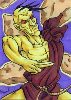 Oro Sketch Card by ibroussardart
