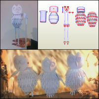 Owl Papercraft Template by Cymae