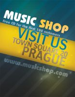 Music Shop Flyer PSD by Martz90