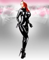 Black Catsuit by UniqueOneDesigns