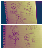 Portal 2 Human Doodles by GUTS-and-GLUCOSE