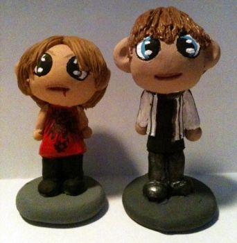 Chibi Kei and Sho Figures by comicalclare
