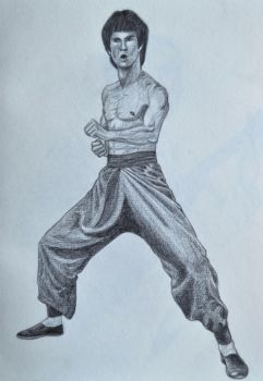 Bruce Lee by Lucas-S-Lopes
