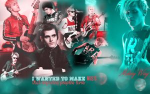 Mikey Way Wallpaper by DoctorWhoRoseAndTen