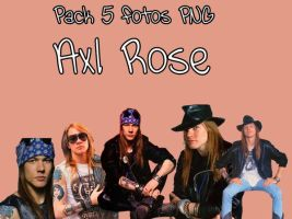 Pack 5 fotos PNG - Axl Rose by MaaryEditions