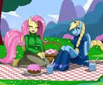 Fluttershy and MD by ss2sonic