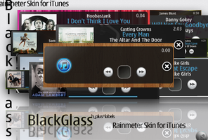 BlackGlass_itunesRainmeter by hpluslabels