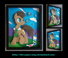 11x14 Doctor Whooves Bubbles Shadowbox by The-Paper-Pony
