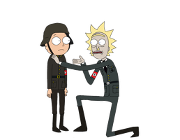 Dimension H-33: Reich and Morty by The-Artist-64