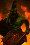 Orc Barbarian by daxy5