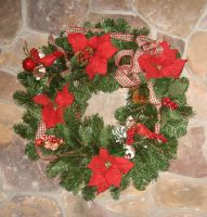 Christmas Wreath by GreenEyezz-stock
