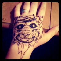 Tiger Henna Tattoo by MonteyRoo