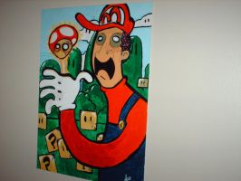 Mario painting by I-like-Dirt