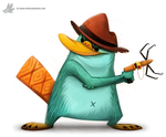 Daily Painting #922 Perry #PhineasAndFerb by Cryptid-Creations