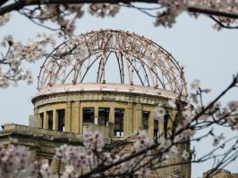 A-bomb Dome Sakura 2 by thecomingwinter