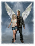 COMM - Gabriel and Eleni -When you show your wings by LadyMintLeaf