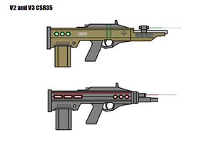 Cyrux Space Rifle v2 and v3 by Artmarcus
