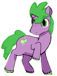 Spike The Pony by 15cocopuffs