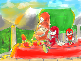 Knuckles, Past Present and Future by halfway-to-insanity