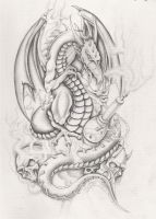 dragon with hooka by markfellows