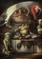 Jabba the Hutt by faxtar