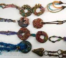 Group Coral Wreath Pendant Series by TinfoilHalo