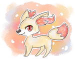 Aquarell Fennekin by krokus00