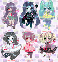 JAPANESE URBAN LEGEND ADOPTABLES OPEN 1 DAY LEFT by Lolisoup