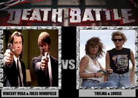 Death Battle: Vega + Winnfield Vs. Thelma + Louise by MrAngryDog