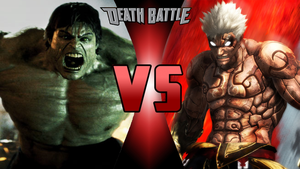 Death Battle - The Incredible Hulk VS Asura by Sparkshot11