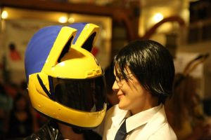 DRRR: Celty and Shinra by rynoki