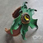 Green Maple Cuff by Beadmask