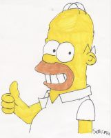 Homer Simpson by UltimateComicsCanada