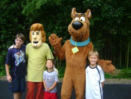 Me with Shaggy and Scooby by RarityLuver214