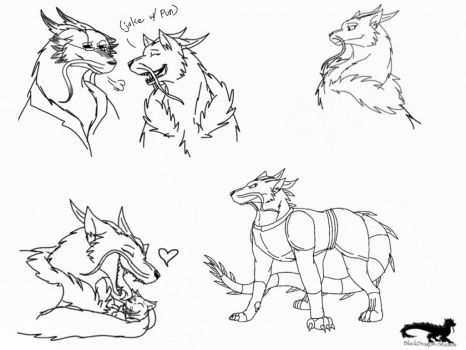 Shardiantale: The Brother's Mother -sketches- by BlackDragon-Studios
