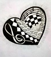 ZENTANGLE: even your heartbeat is music by justayelbee
