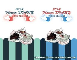 2014 flower DIARY2 by kakjelly