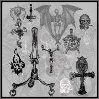 9 gothic jewelry brushes by SineLuce-stock