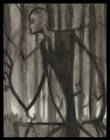 Water Color: Slenderman by Cageyshick05