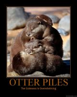 motivational poster 50 otter by kiwikittyofmahem