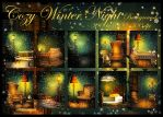 Cozy Winter Night backgrounds by KlaraKay