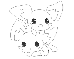pichu lineart 3 by michy123