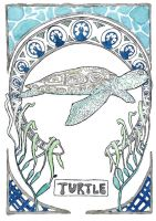 Art Nouveau Turtle by Goats-On-A-Boat