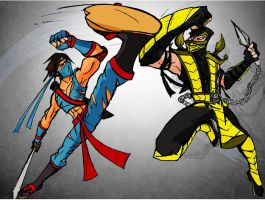 jago vs scopion in color by Mbembe