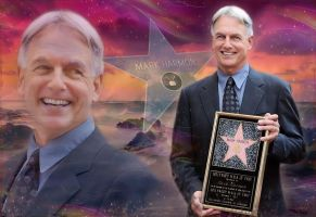 Mark Harmon:  Hollywood Walk of Fame by silverfox2159