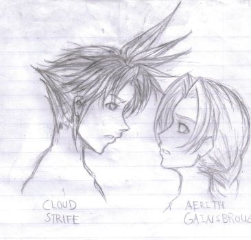 Cloud and Aerith by daigoro1990