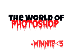 Texto Png The World Of photoshop by LudmiiSmiler28