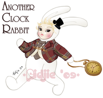 Dal Another Clock Rabbit by Fidjie