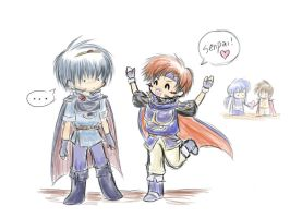Marth and Roy: Senpai by KatYoukai