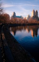 Central Park Reflection by Kamal-Q